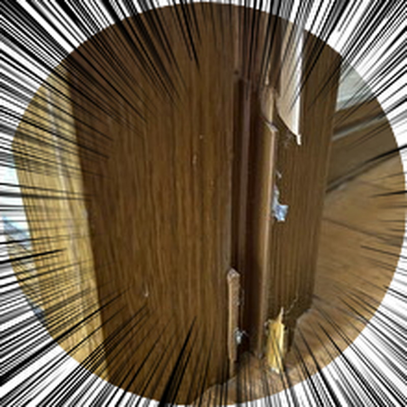 「室内ドア「戸当り破損」代替修理交換DIY 風でバタンとドアが閉まらない対策」のアイキャッチ画像